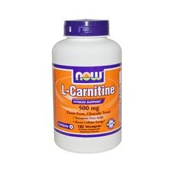 Now Foods, L-Carnitine, 500 mg, 180 Vcaps
