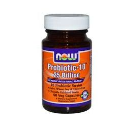 Now Foods, Probiotic-10, 25 Billion, 50 Veggie Caps