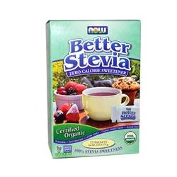 Now Foods, Organic, BetterStevia, Zero Calorie Sweetener, 75 Packets, 2.65 oz (75 g)