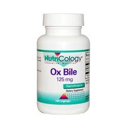 Nutricology, Ox Bile, 125 mg, 180 Veggie Caps