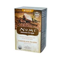 Numi Tea, Organic, Chocolate Pu•Erh, 16 Tea Bags, 1.24 oz (35.2 g)
