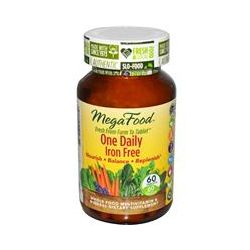 MegaFood, One Daily Iron Free, 60 Tablets