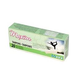 Maxim Hygiene Products, Maxim Organic Tampons, Regular Absorbency, 20 Tampons