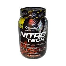 Muscletech, Nitro-Tech, Whey Isolate + Lean Musclebuilder, Milk Chocolate, 2.0 lbs (907 g)