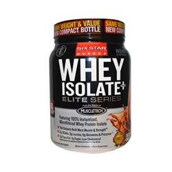 Muscletech, Six Star Pro Nutrition, Whey Isolate+Plus, Elite Series, Decadent Chocolate, 1.54 lbs (697 g)