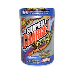 Labrada Nutrition, Super Charge! Xtreme N.O., Blue Raspberry Flavor, 1.76 lbs (800 g)