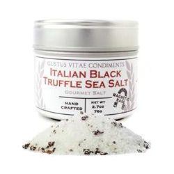 Gustus Vitae, Condiments, Gourmet Salt, Italian Black Truffle Sea Salt, 2.7 oz (76 g)