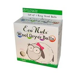 Eco Nuts, Wool Dryer Balls, White, 4 Balls