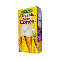 Edward & Sons, Organic Sugar Cones, 12 Cones, 4.6 (132g)