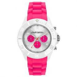 Alienwork Chronosmart Quarzuhr Armbanduhr Multi-funktion Uhr Silikon rosa rosa U0578-08