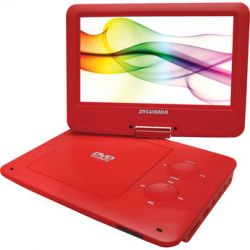 "Sylvania SDVD9020B 9"" Portable DVD Player SDVD9020B-RED B&H"