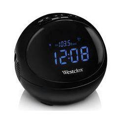 "Westclox 81013 Bluetooth Stereo 0.7"" Blue LED Clock 81013"