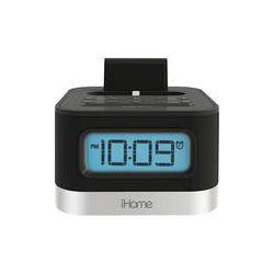 iHome iPL8BN Dual Charging Stereo FM Clock Radio IPL8BN B&H