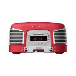 Teac  SL-D920R Nostalgic CD-Radio (Red) SL-D920R B&H Photo Video