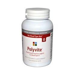 D'adamo, Polyvite, Multivitamin for Blood Type O, 120 Veggie Caps