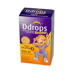 D Drops, Booster, Liquid Vitamin D3, 600 IU, 0.09 fl oz (2.8 ml)