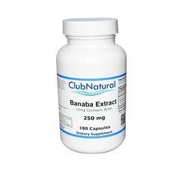 Club Natural, Banaba Extract, 250 mg, 180 Capsules