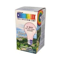 Chromalux, Lumiram, Full Spectrum Lamp, 3 Way 50-100-150W Clear, 1 Light Bulb