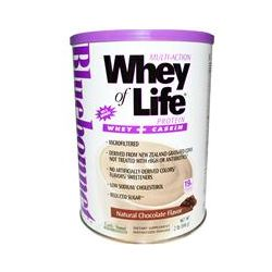 Bluebonnet Nutrition, Multi-Action Whey of Life Protein, Natural Chocolate Flavor, 2 lbs (840 g)