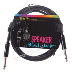 przewód instrumentalny BOSTON - BLACK JACK 1m jack prosty/prosty