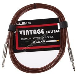 kabel gitarowy GLEAM VINTAGE 3m BROWN jack prosty/prosty