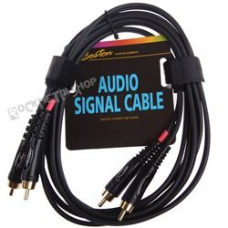 przewód audio BOSTON: 2 x RCA (cinch) - 2 x RCA (cinch) / 3m
