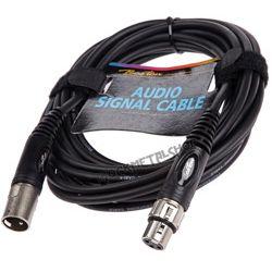 przewód mikrofonowy BOSTON: XLR męski - XLR damski / 9m
