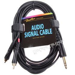 przewód audio BOSTON: 2 x RCA (cinch) -  DUŻY JACK STEREO (6.3mm) / 6m