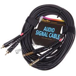 przewód audio BOSTON: 2x RCA (cinch) -  2x JACK MONO duży (6.3mm) / 9m