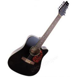 gitara akustyczna MSA 12-STRUNOWA / CZARNA (CW-1000)