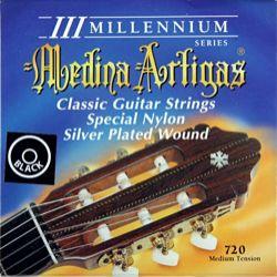 "struny do gitary klasycznej MEDINA ARTIGAS ""III MILLENIUM"" Black Nylon Medium 720"