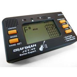 tuner / stroik gitarowy CRAFTMAN JCT-40 - LCD, 260 akordów