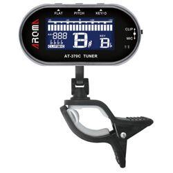 tuner do instrumentów dętych C/F/Bb/Eb AROMA AT-370C na klips