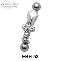 KOLCZYK PIERCING DO BRWI SWORD oczko crystal [EBH-53N] PRC-1397
