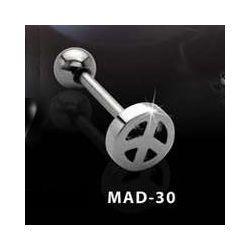 KOLCZYK DO JęZYKA PACYFKA grubość 1,6mm średnica kulki 5mm [MAD-30] PRC-1052