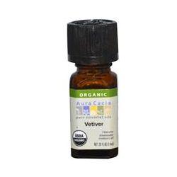 Aura Cacia, Organic, Vetiver, .25 fl oz (7.4 ml)