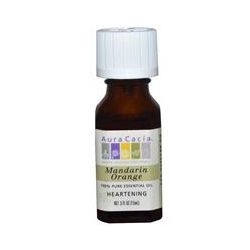 Aura Cacia, 100% Pure Essential Oil, Mandarin Orange, Heartening, .5 oz (15 ml)