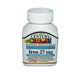 21st Century Health Care, Iron, 27 mg, 110 Tablets
