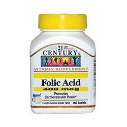 21st Century Health Care, Folic Acid, 400 mcg, 250 Tablets