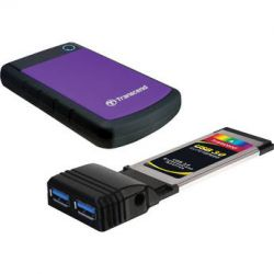 Transcend 1TB StoreJet 25H3P External Hard Drive Kit with USB
