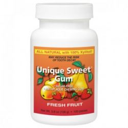 Unique Sweet Xylitol Gum, Fresh Fruit (100 Pieces)