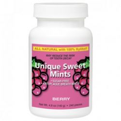 Unique Sweet Xylitol Mints, Berry (240 Pieces)