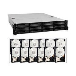 Synology 36TB (12 x 3TB) RackStation RS2414+ 12-Bay iSCSI NAS