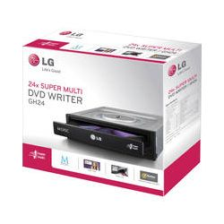 LG 24x DVD±RW SATA Optical Drive GH24NSB0R B&H Photo