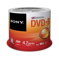 Sony Recordable Storage DVD-R (Pack of 50) 50DMR47SP/US B&H