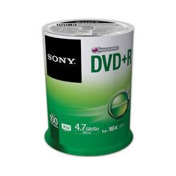 Sony Recordable Storage DVD+R (Pack of 100) 100DPR47SP/US B&H