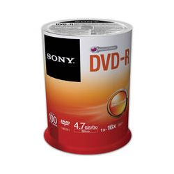 Sony Recordable Storage DVD-R (Pack of 100) 100DMR47SP/US B&H