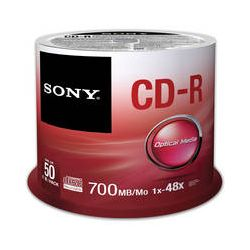 Sony CD-R 700 MB, 80 Minute Recordable Discs 50CDQ80SP/US B&H