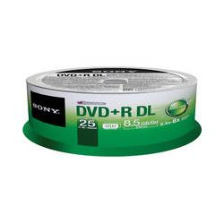 Sony DVD+R 8.5 GB Dual Layer Recordable Discs 25DPR85SP/US B&H