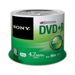 Sony Recordable Storage DVD+R (Pack of 50) 50DPR47SP/US B&H